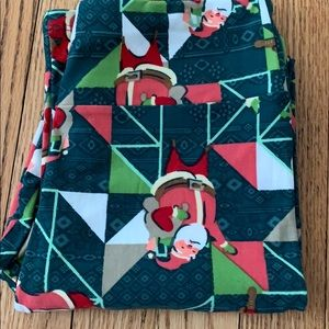 Lularoe Christmas Santa leggings OS